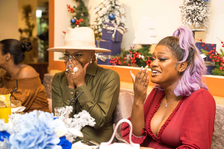 Angel Obasi and Diana Eneje at the swarovski nigeria crystal brunch